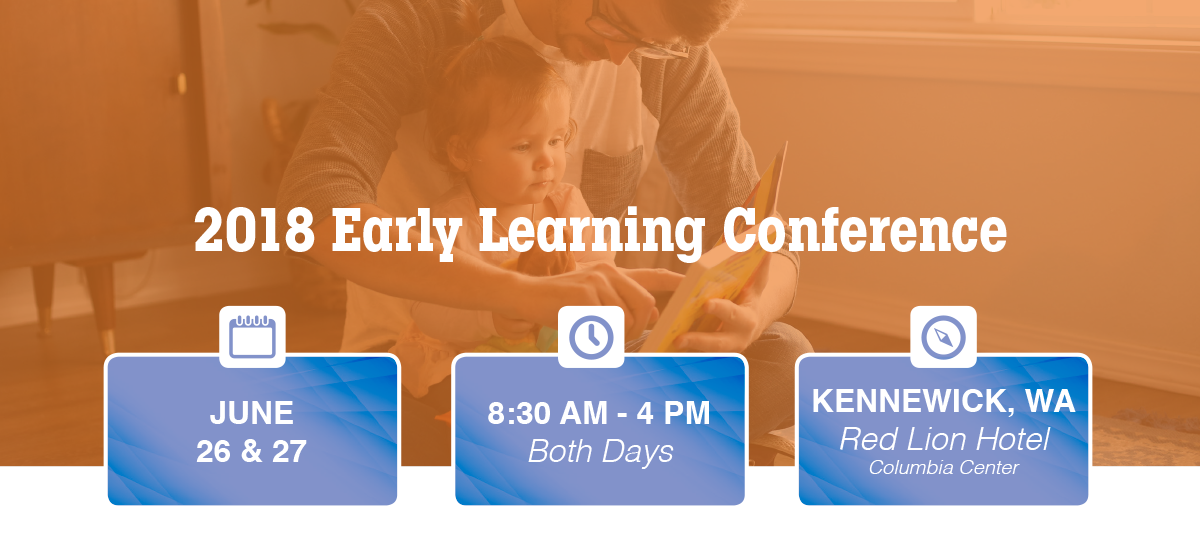 Parent reading with child - lead in for the 2018 Early Learning Conference