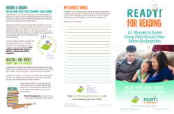 READY! for Reading: 101 Books Brochure